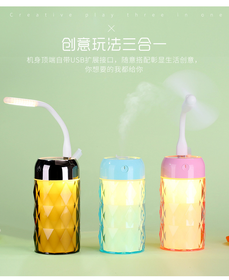 Hot selling Amazon LED Air Humidifier&perfume USB auto mini humidifier