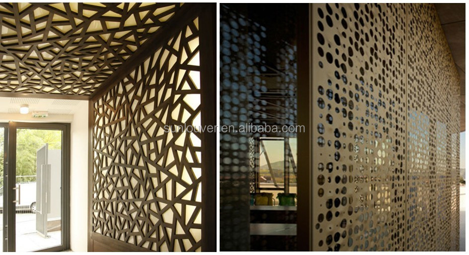 architectural decorative perforated metal screen