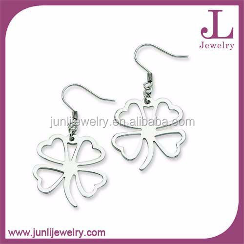 4 Leaf Clover Hook New Design Earring Stainless Steel Hook Earrings