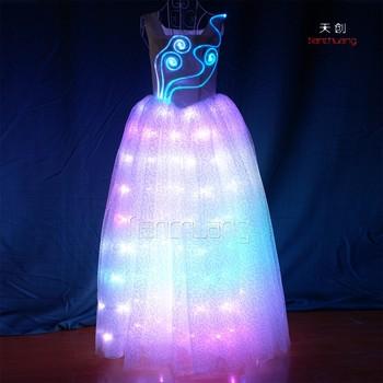 Remote Control Light Color Wedding Dresses Led Ballerina