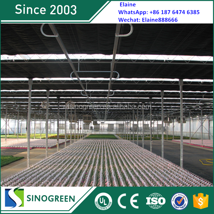 Centrifugal Galvanized Frame roll up motor auto light deprivation greenhouse