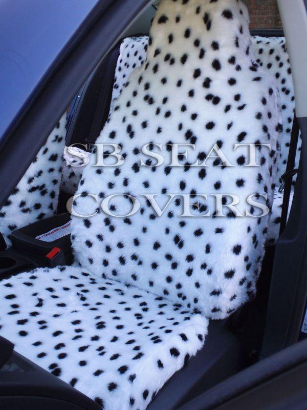 Dalmatian Fluffy Faux Fur Car Seat Covers