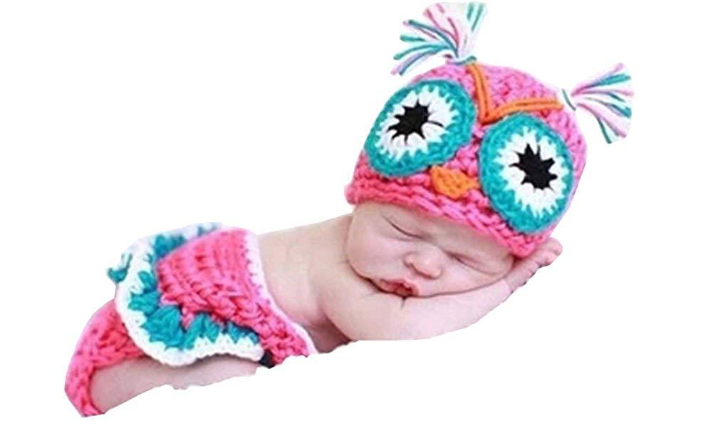 CX-queen® Newborn Owl Infant Baby Knit Crochet Handmade Photography Photo Props