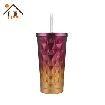 500ml Wheat Straw Cup Coffee Travel Mugs BPA Free Sports Water Bottle Cup with Lid for Tea, Coffee, Milk with Non Slip