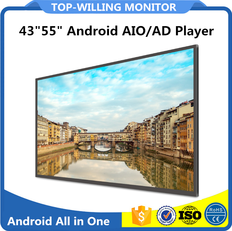 Android 5.1 43 inches 55 inches Big Indoor Advertising Players