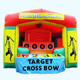 outdoor indoor Inflatable Crossbow or Tin Can Alley shooting game for sale, inflatable traditional style funfair stalls hire
