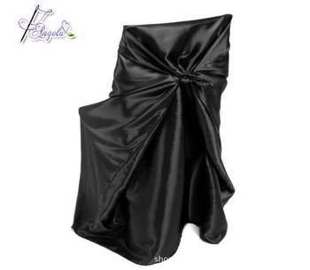 solid color wholesale pillow case satin chair covers universal fitting all chairs of different shapes