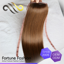 Factory direct sell natural ponytail hair, pure silky human hair wrap ponytail, high quality remy ponytail hair extensions
