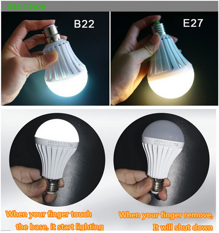 Rechargeable Led Emergency Bulb With Built-in Battery,Smd Plastic ...