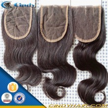 wholesale natural hairline brazilian hair closure pieces for black women
