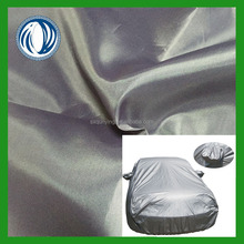 Hot sell environmental 210T polyester taffeta fabric silver coated for car cover
