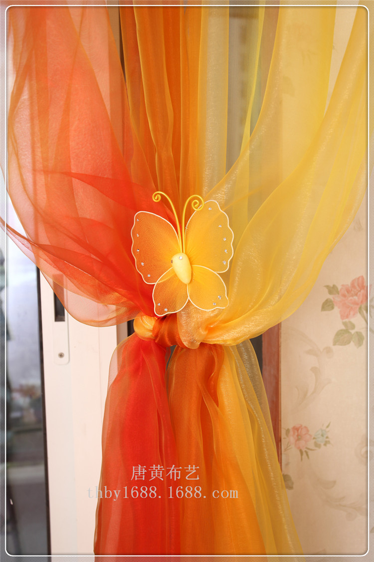 Engineering gauze color candy color screens pastoral modern minimalist room hotel and decorative curtain