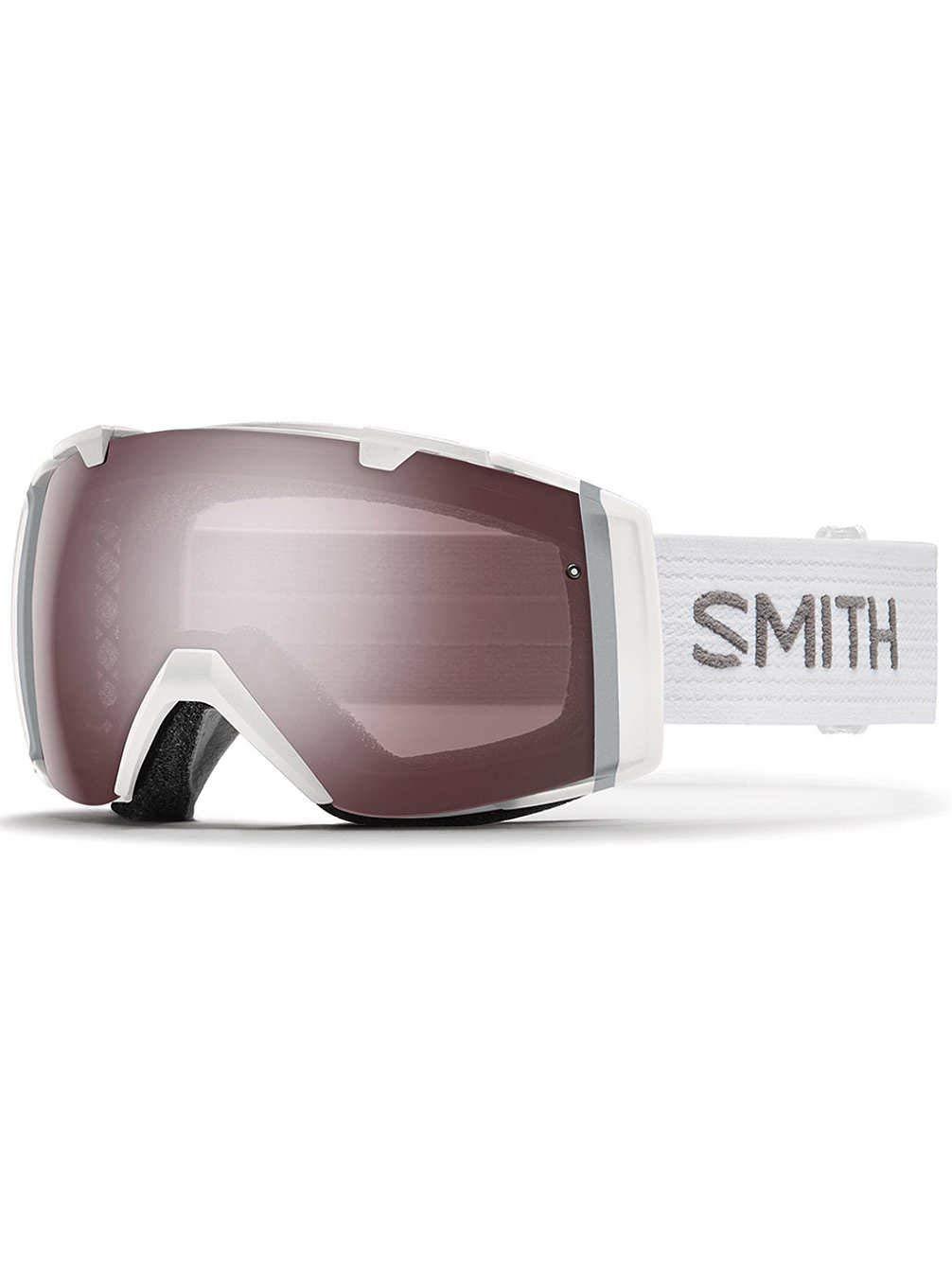 a7da1b7f4247 Get Quotations · Smith Optics I O Ski- Snowboard Goggles White - Ignitor  Mirror and Red Sensor