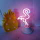 small flamingo battery powered neon light neon lamp for desk