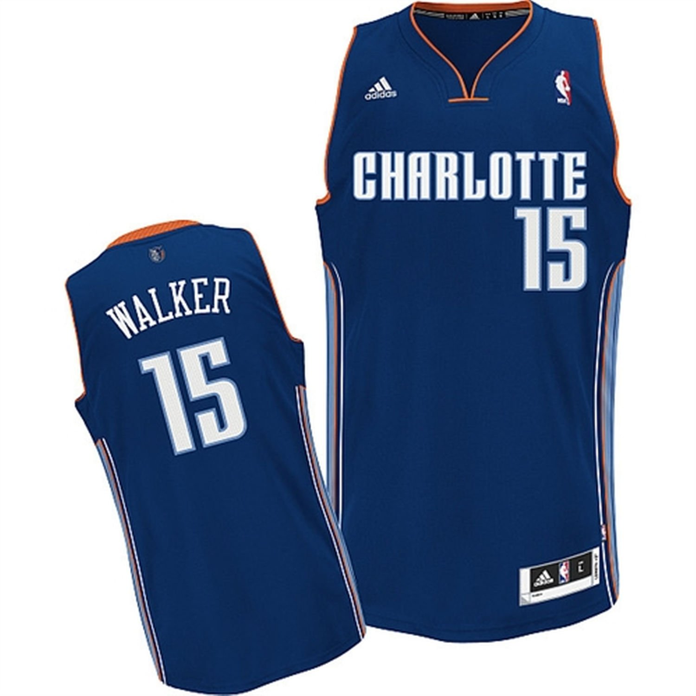 Kemba Walker Charlotte Bobcats Navy Blue Youth Adidas Swingman Jersey X-Large 18/20
