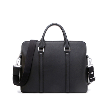 Saffiano Satchel Mens Leather Laptop Briefcase - Buy Genuine Leather ... 0107b52cbddb6