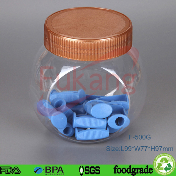 China 900ml plastic container transparent play dough for Decor 900ml container