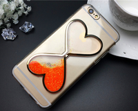 Stylish phone accessories drifting sand back liquid cover case for iphone5/6/6plus suit for samsung mobile phone
