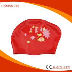 best custom silicone waterproof swim cap for long hair