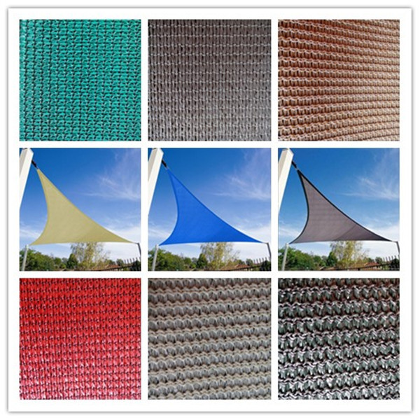 Shade Custom Size Order to Make Sun Shade Sail Canopy Mesh Fabric UV Block Rectangle Commercial Standard Heavy Duty 180 GSM