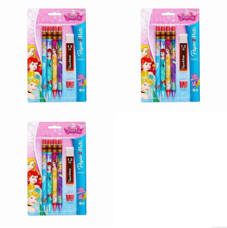 Paper Mate Mates Disney Princess Mechanical Pencil, 4-Pack (1928096) Set of 3 Packages - 12 Pencils