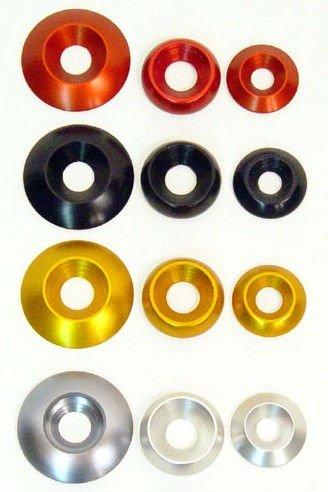 anodized aluminum countersunk washer