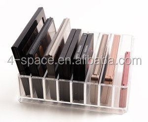 Acrylic Eyeshadow Palette Holder 8 Compartments Mini Makeup
