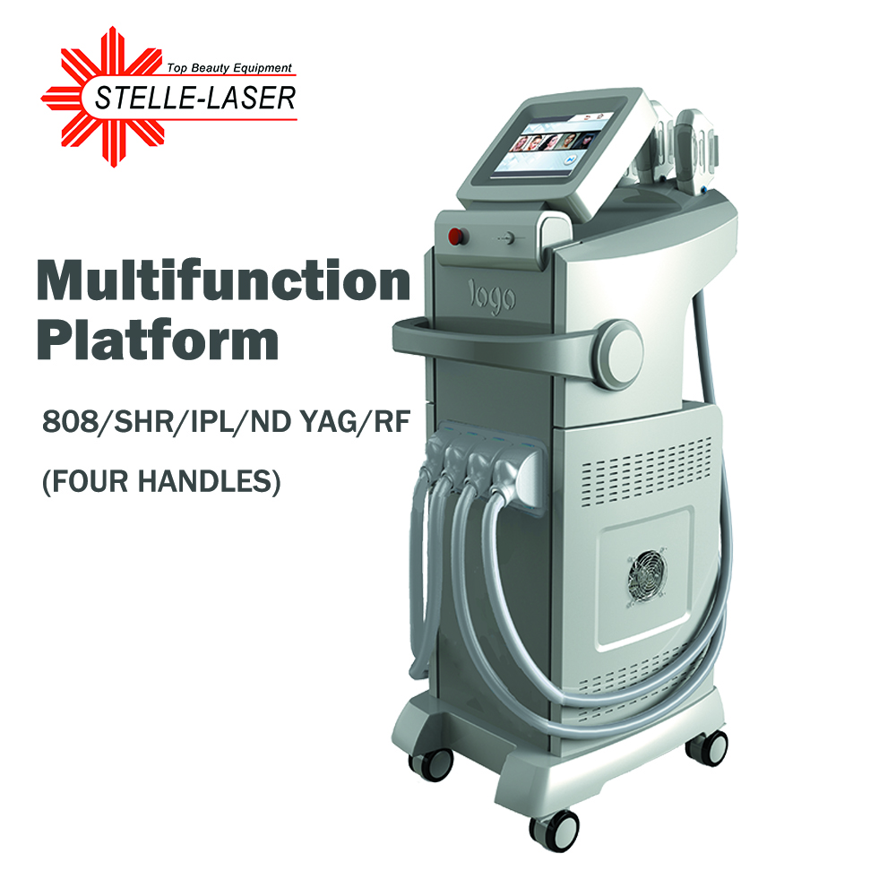 IPL + Diode Laser +ND YAG Laser + RF 4 In 1 Multifunctional Beauty Device