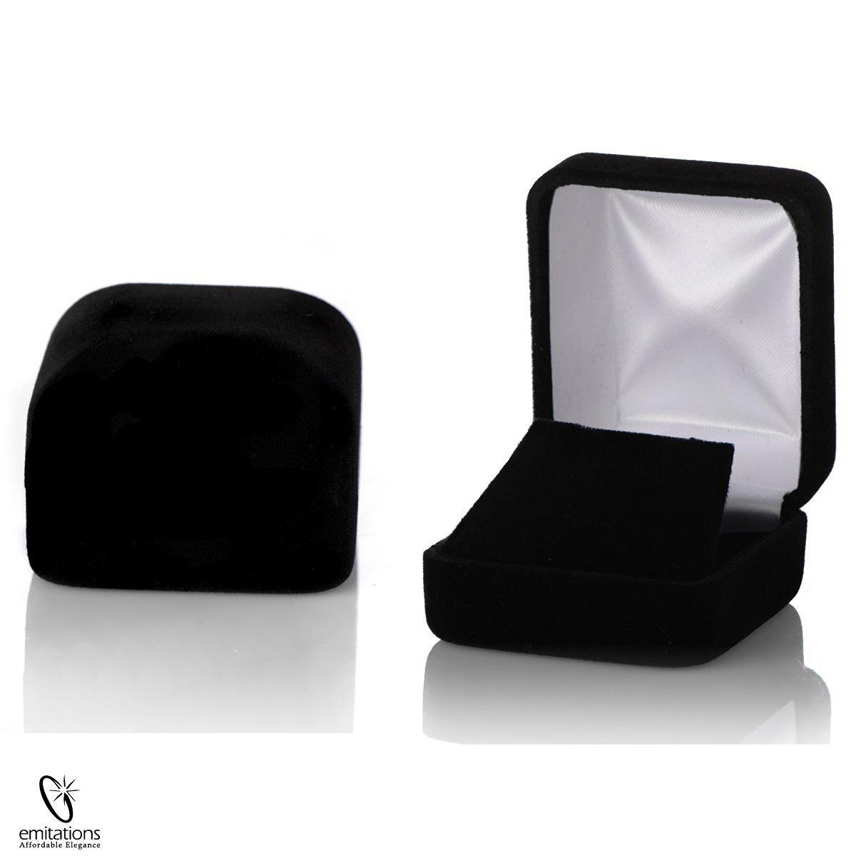 Black Velvet Stud Earring Box