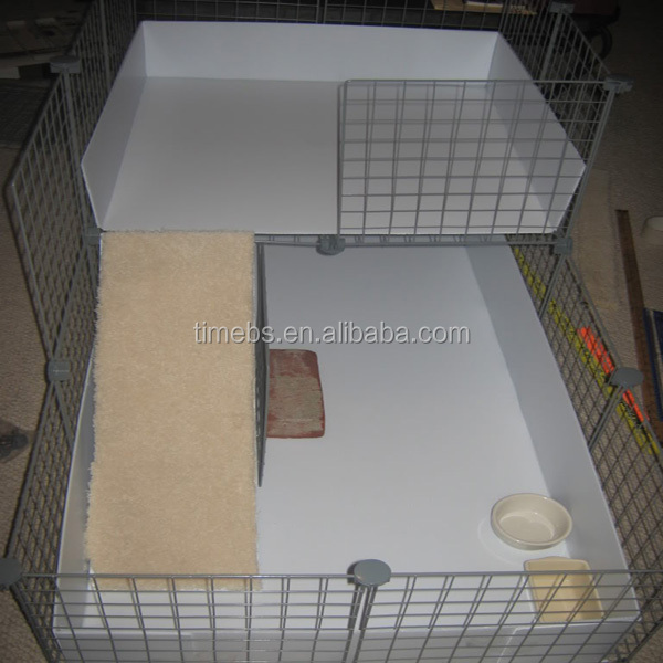 Pp Corrugated Coroplast Plastic Sheet Pet Cage For Guinea