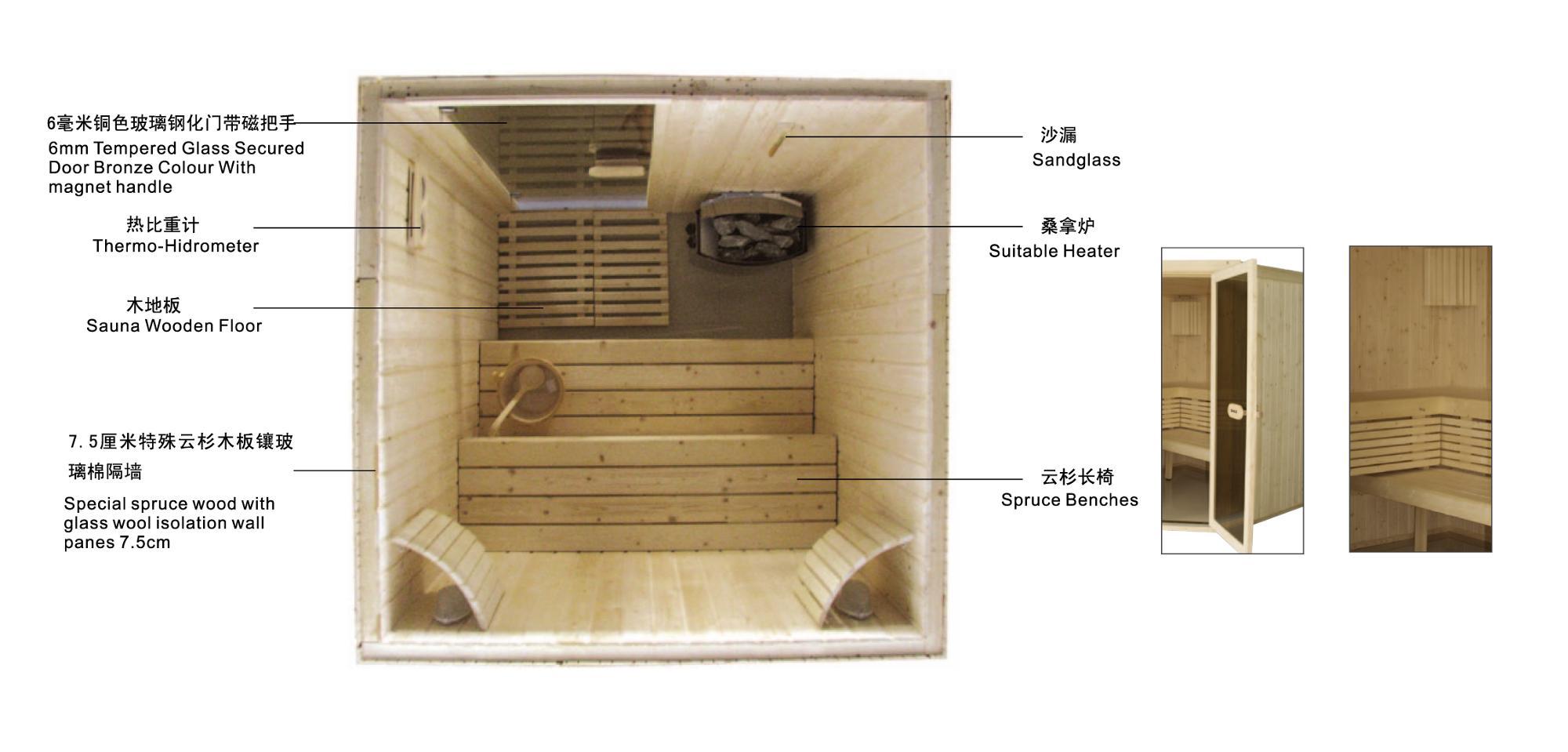 Роскошное оборудование сауны приятное тело Релаксация сауна комната