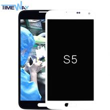 Hot Sales!original lcd touch screen digitizer glass panel assembly for samsung s5(i9600)(without home button)