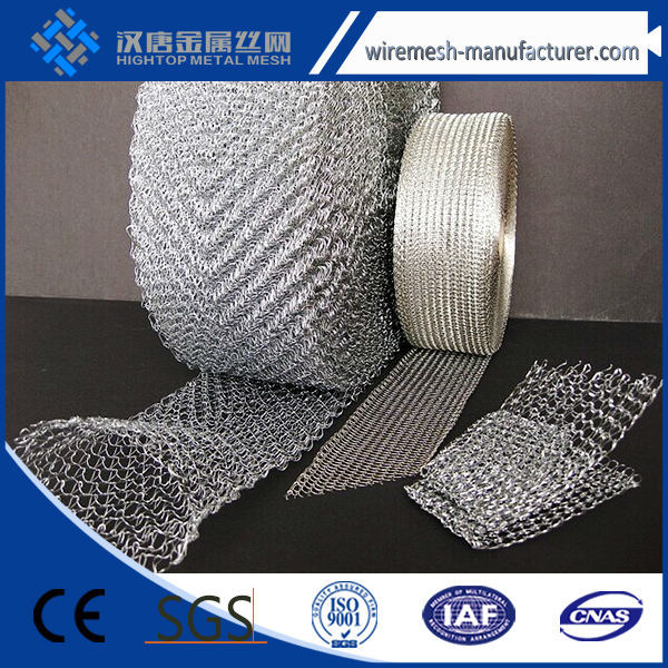 China Alibaba knitted stainless steel wire mesh/knitted wire mesh netting