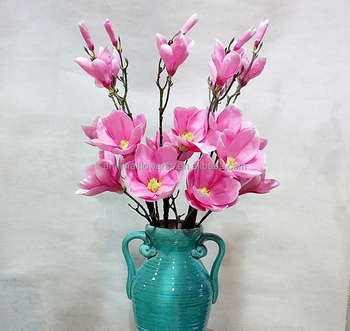 Wholesale Flowers Pink Real Touch Artificial Magnolia Flower Buy