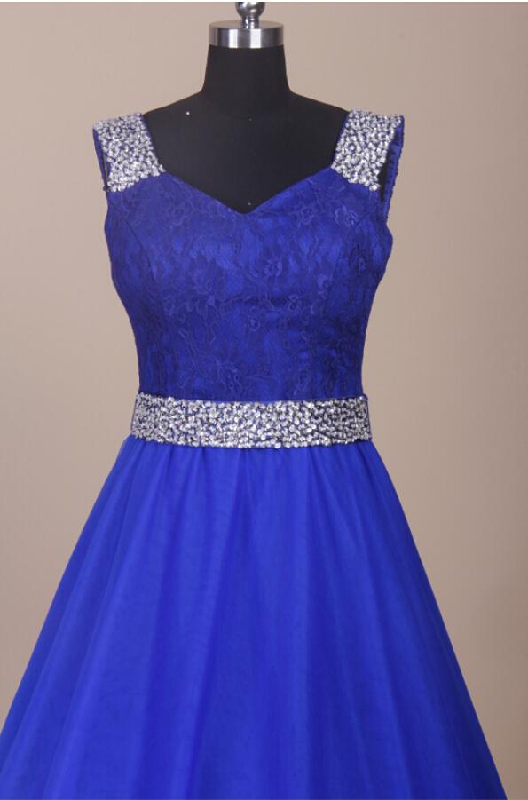 Hermosa Azul Real Vestidos De Dama Largos Molde - Ideas de Estilos ...