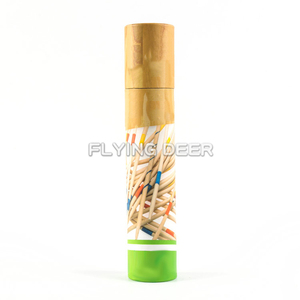 Outdoor Game Paper Tube Packaging Bamboo Sticks Mikado Play Set