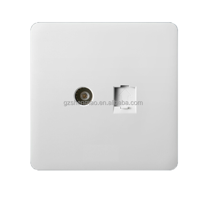 new design tv /telephone wall socket for home ,hotel
