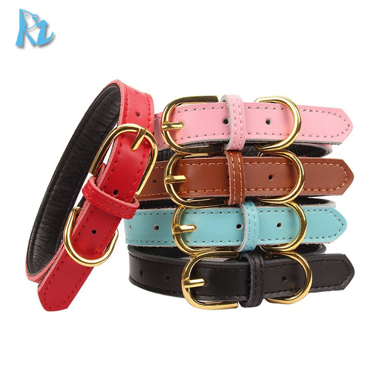 Wholesale Cheap Double Layer Soft Leather Dog Collars And Leads