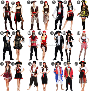 in stock cheap couple halloween pirate costume