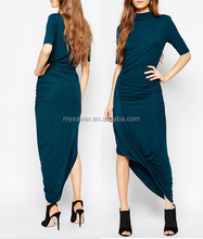 New fashion stretch fabric selected Drape Campaign Maxi elegant Dress with wholesale prices