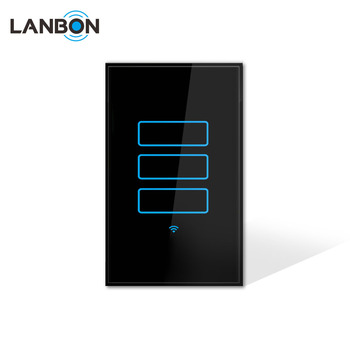 Modern Light Switches >> Lanbon Home Smart Modern Light Switch 110 250v Electrical Touch Wall