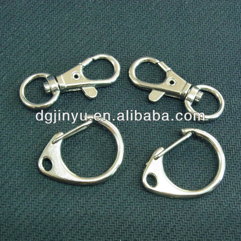 Metal Snap Hook with eyelet for wire rope