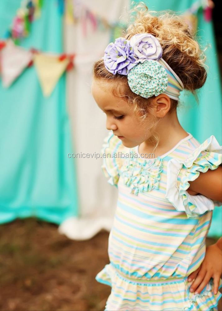 2 pcs ruffle outfit kids boutique clothing free sample summer clothes children clothing