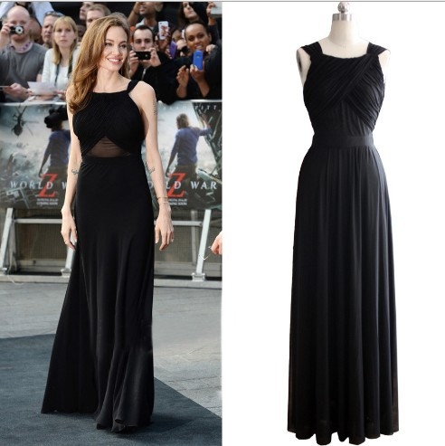 Women Maxi. dress Celebrities Angelina Jolie long evening ...