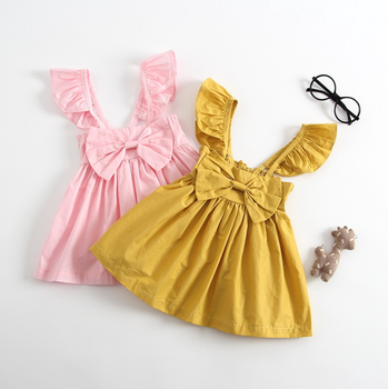 0 3 Años 2018 Venta Al Por Mayor Barato Chino Vestidos Bebé Niña Vestido Con Bowknot Buy Vestidos Chinos Baratosbebé Vestido Veraniego Para