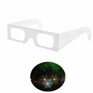 Customized Colorful Fireworks 3D Paper Glasses Promotional Christmas Snowflake Diffraction Glasses