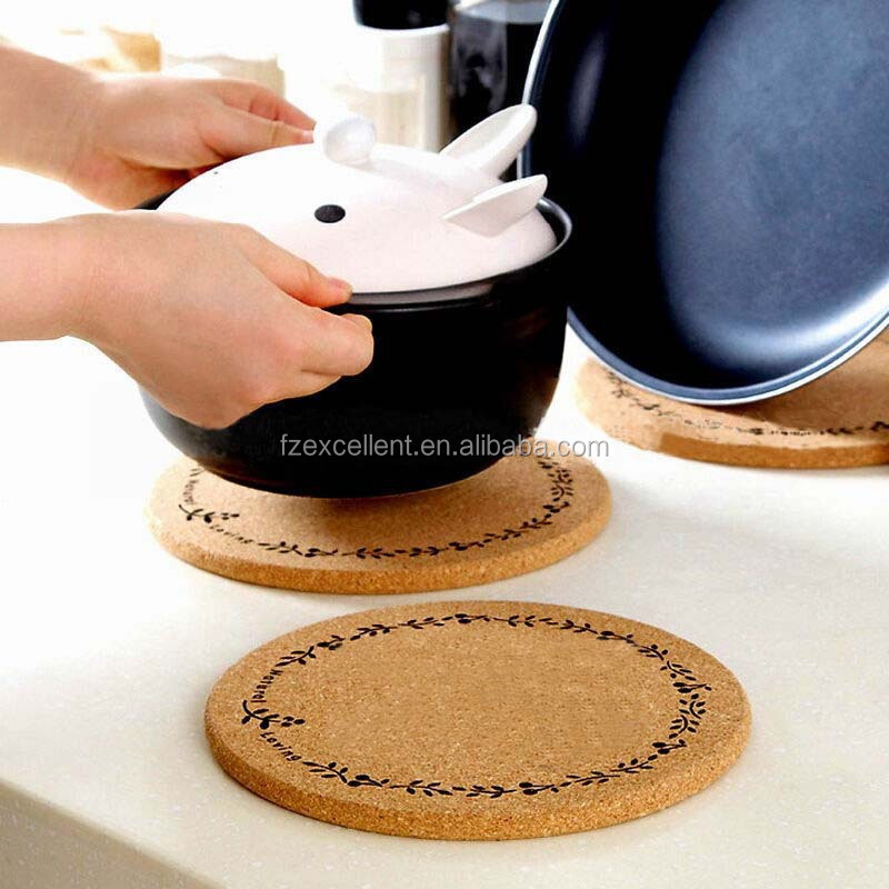 Cheap Heat Resistant Holder Ceramic Coasters With Cork Back Trivet