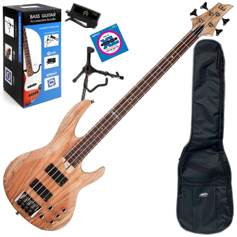 ESP LTD B204-SMNS 4-String Electric Bass w/ Gig Bag and Daddario