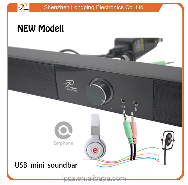mini soundbar /sound bar built in 4 Speakers with perfect sound for hometheatre