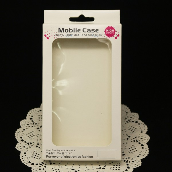 Folding phone case paper packaging PVC plastic box for Samsung mobile case